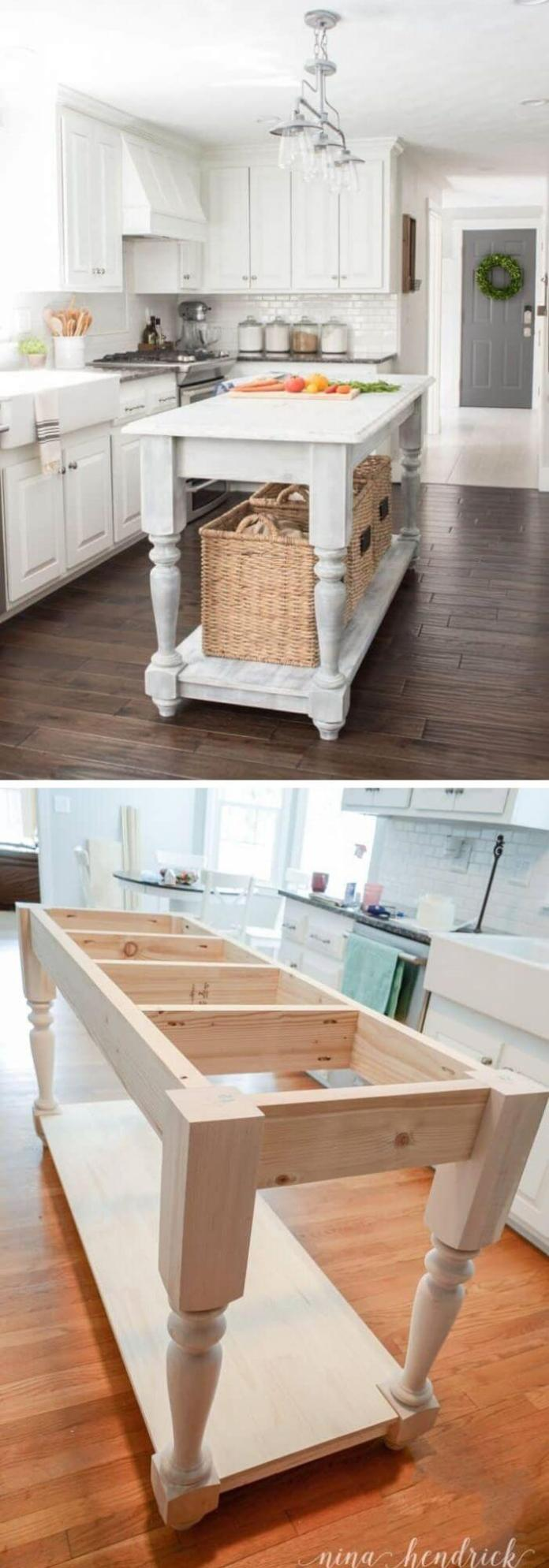 20 Rustic Diy Kitchen Island Ideas Designs With Instructions For 2020
