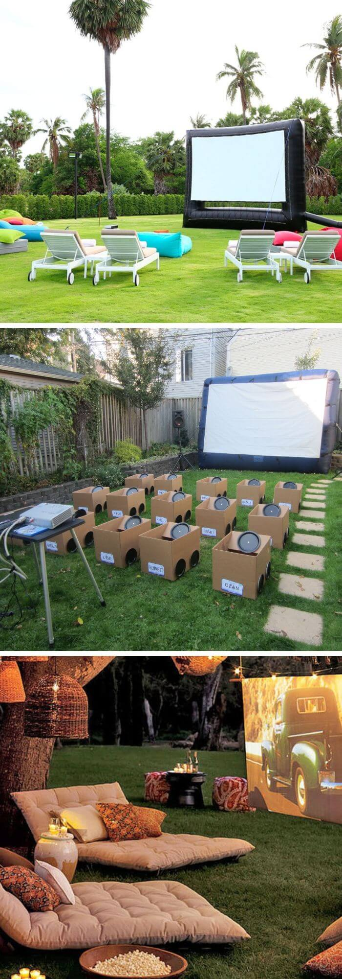 Backyard DIY Movie Theatre