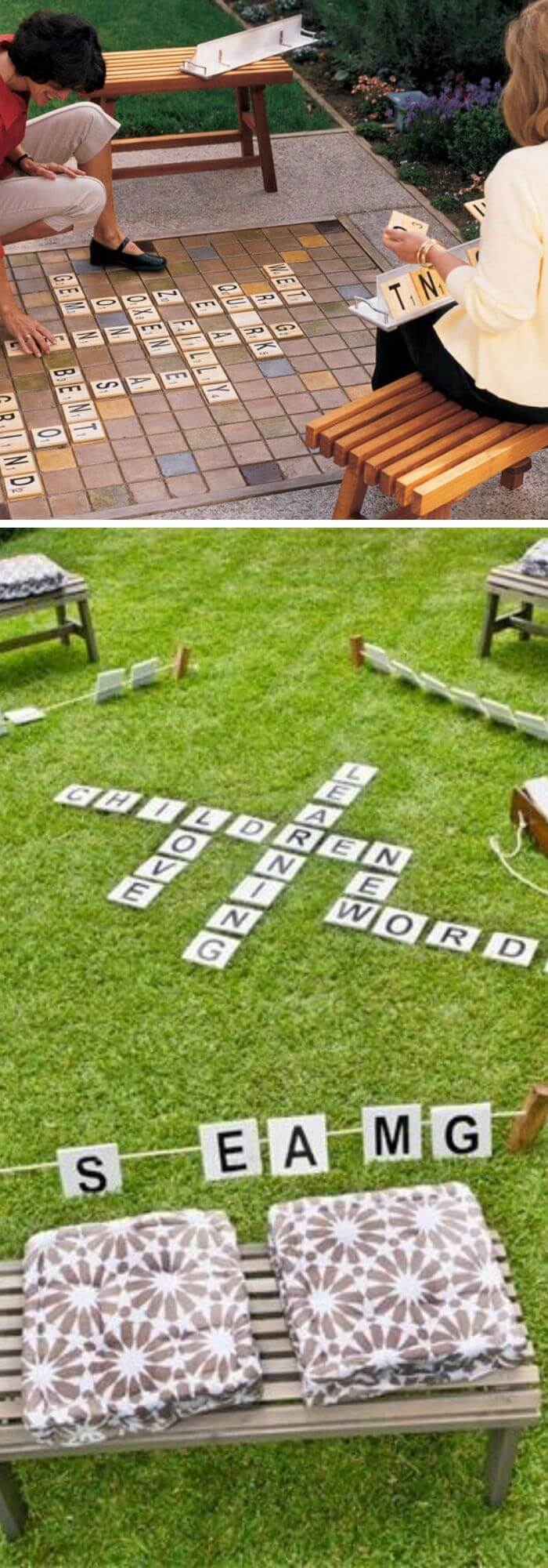Backyard DIY Scrabble Set