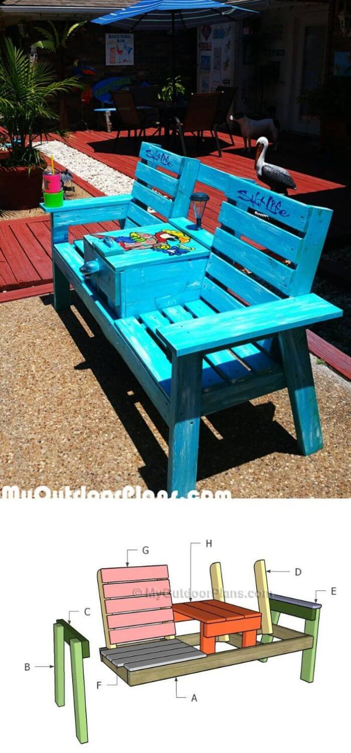 The sitting-table bench