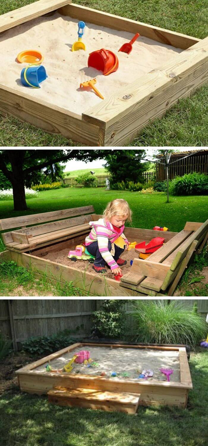 Backyard DIY Sandbox