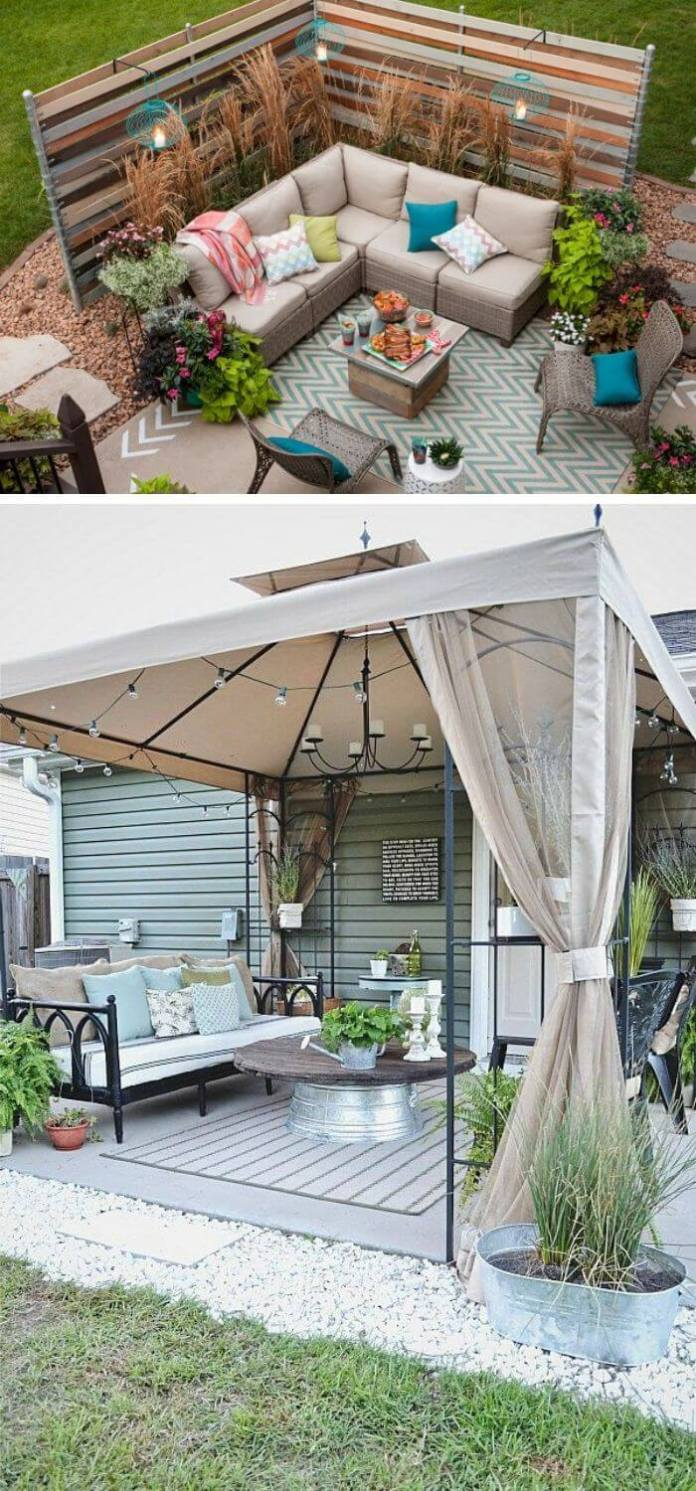 A Backyard with an outdoor Lounge