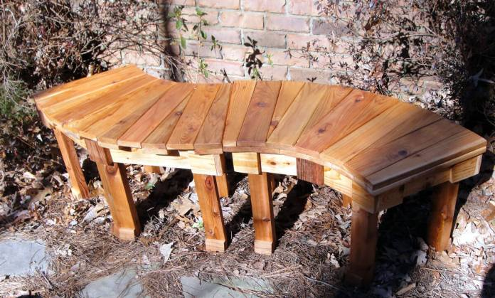 Stained bench