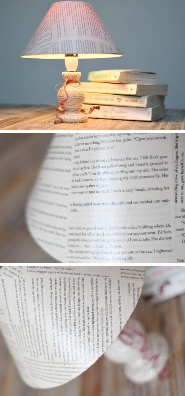 Bedroom lamp for book lovers
