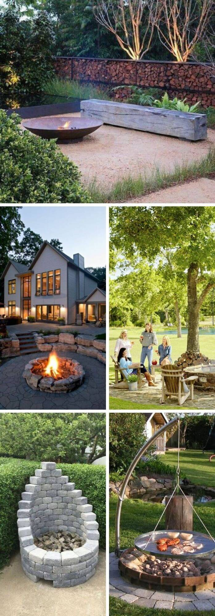 A Backyard with a Fire Pit