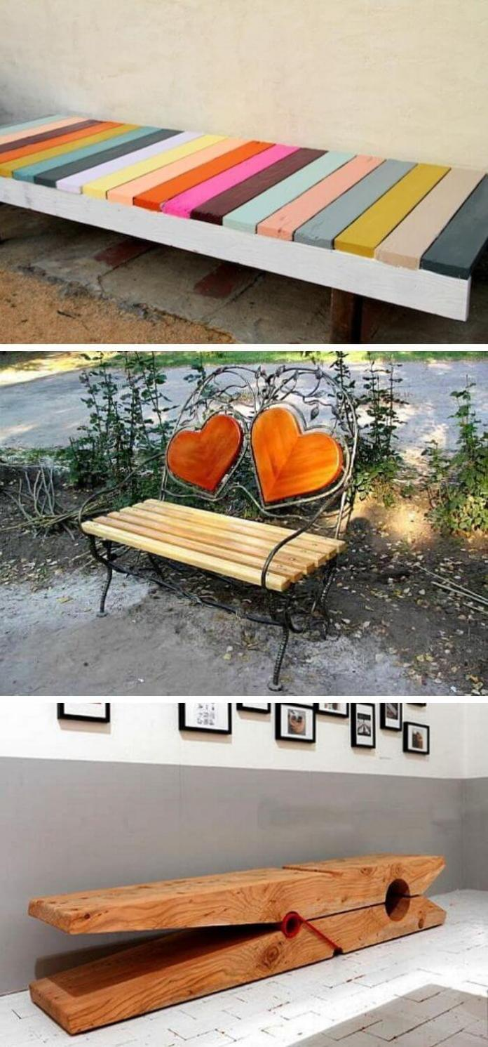 Simple and colorful bench