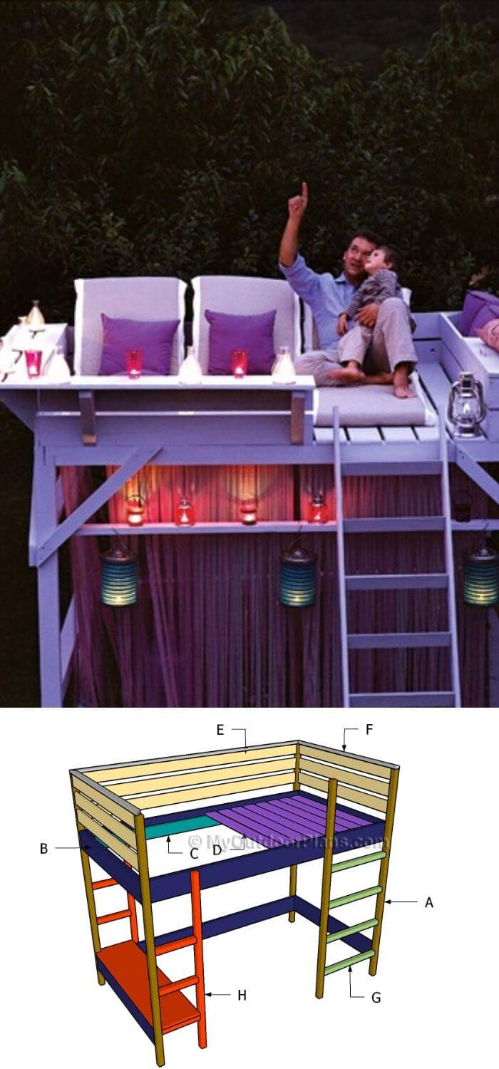 Backyard DIY Bed Loft