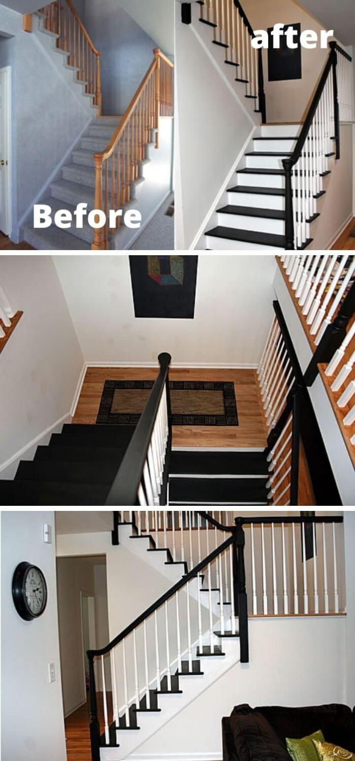 Paint your stairs to a darker color to look attractive