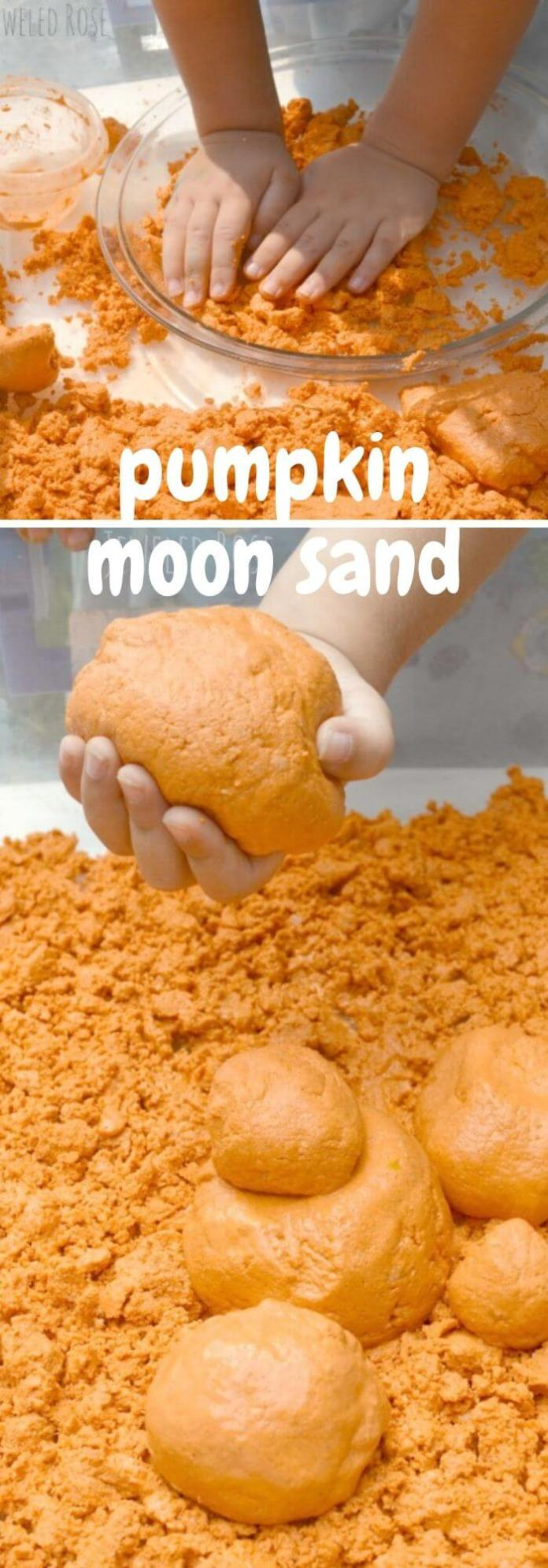 The pumpkin moon sand DIY is the most famous of them all