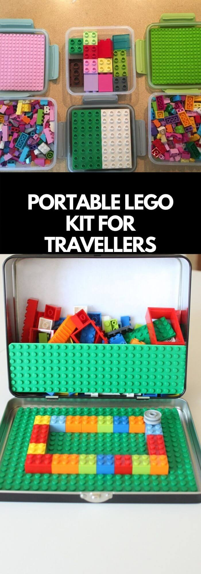 Turn travel into a blast with this portable Lego kit
