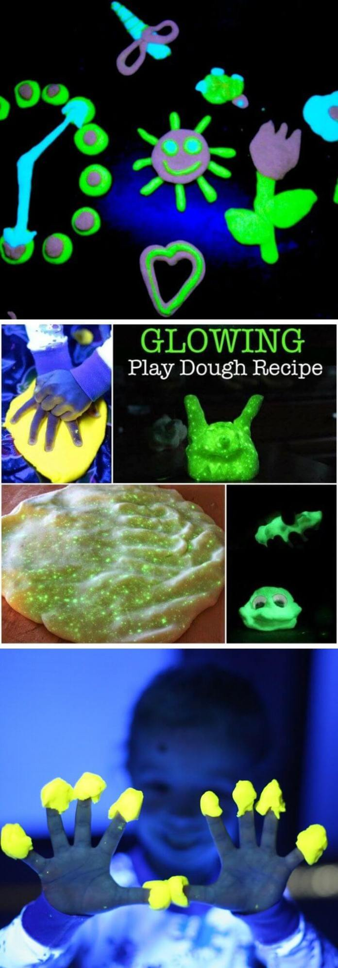 Surprise your kids with shinny playdough