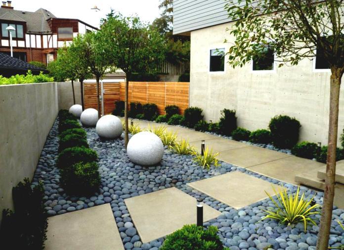 Minimalist Arizona backyard ideas with rock