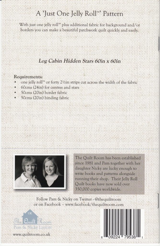 "Log Cabin Hidden Stars – ""Just One Jelly Roll"""