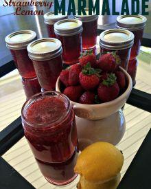 Strawberry Lemon Marmalade – Making & Canning