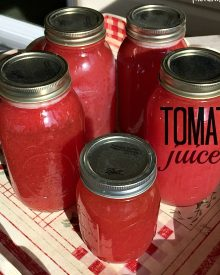 How to Can Tomato Juice
