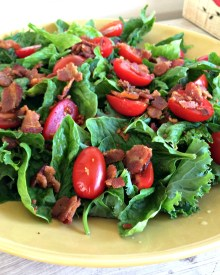 Classic Wilted Salad with Bacon Dressing
