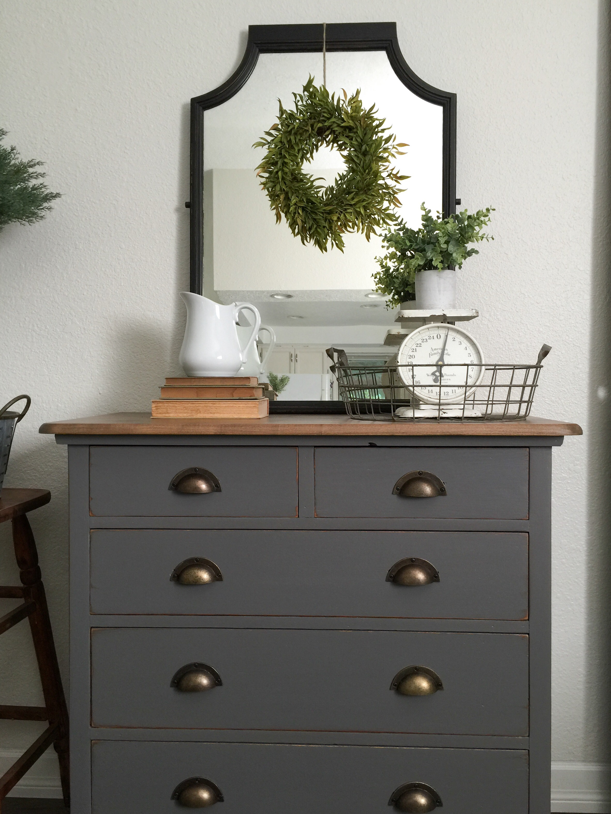 grey painted chairs revolving chair autocad block charcoal gray dresser with a sweet little note farm