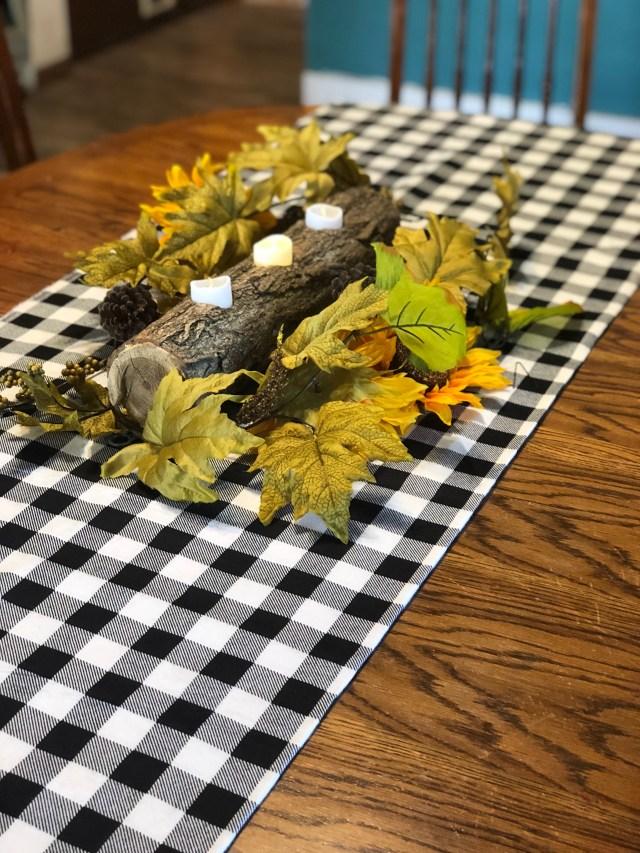 Autumn fall table centerpiece