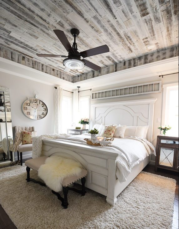 farmhouse bedroom ceiling