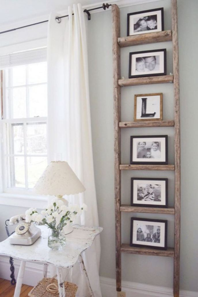 Ladder For Farmhouse Bedroom Decorating