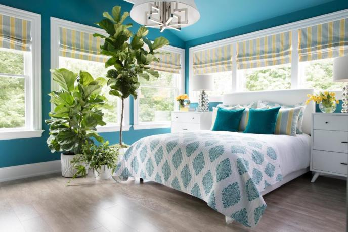teal color palettes for bedroom