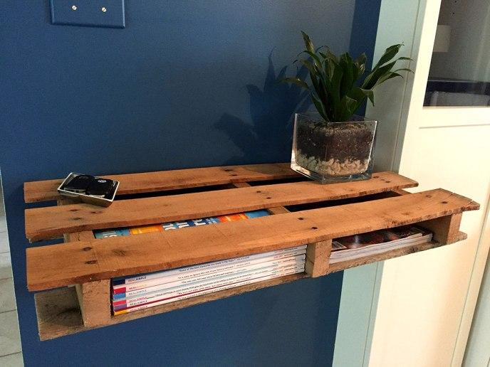 make shelf out of pallet