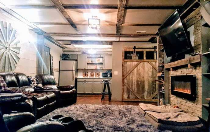 barnwood basement ideas