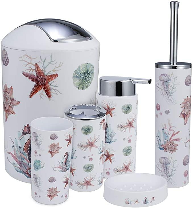 sea creatures bathroom accessories