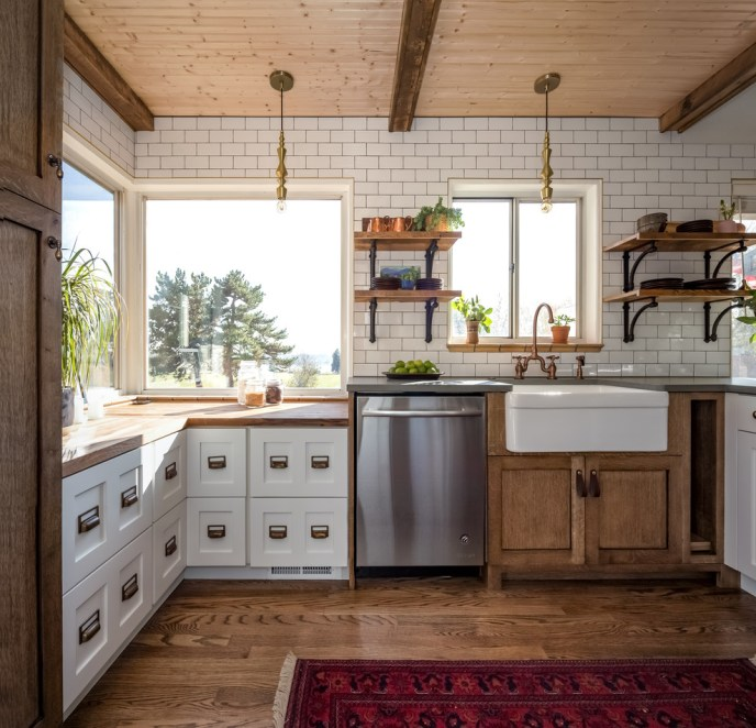 small white rustic kitchens