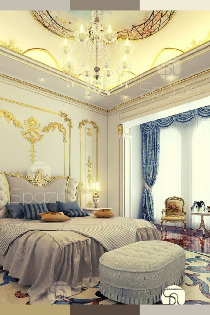 royal bedroom interior design