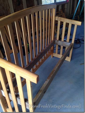 diy baby bed into bench - diy campbellandkellarteam