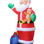 12-Foot-Christmas-Inflatable-Santa-Claus-with-Gift-Bag-and-Bear-Yard-Garden-Decoration-0-0