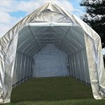 28×12-Carport-GreyWhite-Garage-Storage-Canopy-Shed-Car-Truck-Boat-Carport-By-DELTA-Canopies-0