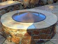 Round Metal Steel Fire Pit Campfire Ring Cover 39 ...