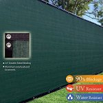 8×50-8ft-Tall-3rd-Gen-Olive-Green-Fence-Privacy-Screen-Windscreen-Shade-Cover-Mesh-Fabric-Aluminum-Grommets-Home-Court-or-Construction-0