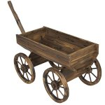 Best-Choice-Products-Patio-Garden-Wooden-Wagon-Backyard-Grow-Flowers-Planter-w-Wheels-Home-Outdoor-0-1