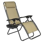 Best-ChoiceProducts-Zero-Gravity-Chairs-Tan-Lounge-Patio-Chairs-Outdoor-Yard-Beach-New-Set-of-2-0-0