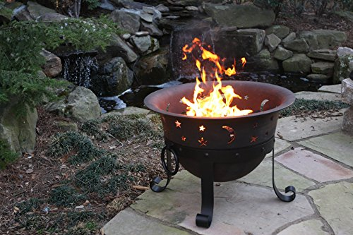 Catalina Creations Heavy Duty Cast Iron Fire Pit with Cover and Accessories 29  Farm  Garden