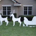 Christmas-Outdoor-Santa-Sleigh-and-2-Reindeer-Set-0-0