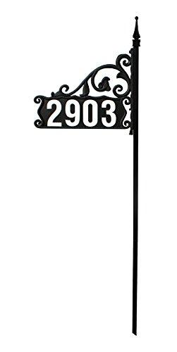 DIY Boardwalk Reflective 911 Home Address Sign for Yard