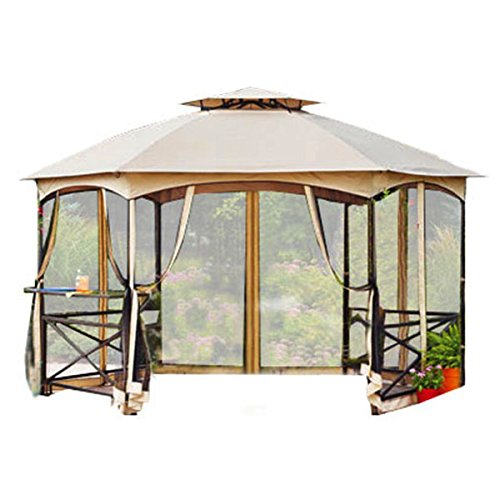 Garden Winds Crossman Hexagon Gazebo Replacement Canopy  sc 1 st  Farm u0026 Garden Superstore & Garden Winds Replacement Canopy For Home Deptou0027S Pacific Casual ...