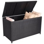 Giantex-47-Black-Outdoor-Wicker-Deck-Cushion-Storage-Box-Furniture-Patio-garden-0-1
