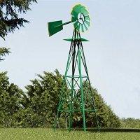 Green and Yellow 8-Ft Ornamental Windmill   Farm & Garden ...