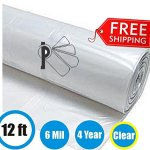 Greenhouse-Clear-Plastic-Film-Polyethylene-Cover-4-Year-6-Mil-12ft-X-25ft-0