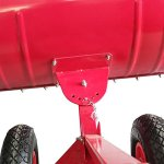 Heavy-Duty-Rolling-Snow-Shovel-with-Rotatable-Steel-Blade-5-Way-Adjustable-Handle-and-Extra-Large-Rubber-Wheels-for-Easy-Rolling-Color-Red-0-1