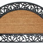 J-M-Home-Fashions-Coir-and-Rubber-Scroll-Border-Plain-Half-Round-Doormat-24-x-40-0