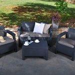 Keter-Corfu-4-Piece-Set-All-Weather-Outdoor-Patio-Garden-Furniture-w-Cushions-Brown-0-1