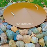 Metal-fire-pit-campfire-ring-spark-screen-cover-36-Diameter-0