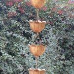 Monarchs-Pure-Copper-Lotus-Rain-Chain-8-12-Feet-Length-0-0