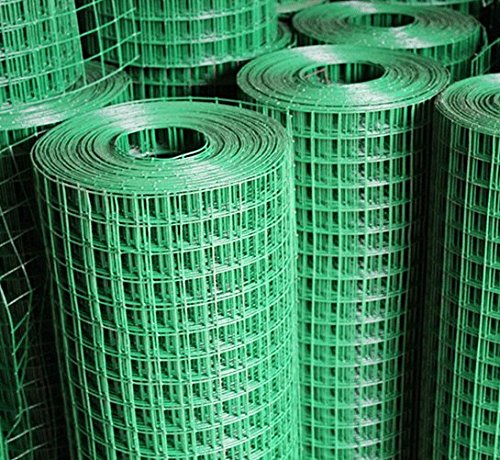 Mr. Garden 5ft Hx98ft L Green PVC Coated Garden Fence, Agriculture Fence